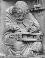 Carving of Pythagoras from Chartres cathedral